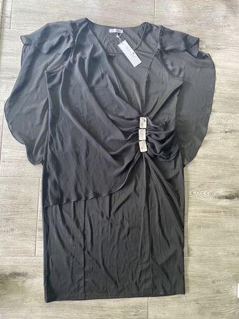 Sukienka koktajlowa z peleryną 4xl 48/50