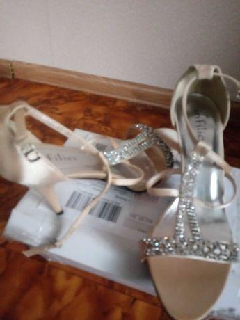 Sandalki nowe zloto bezowe diamenciki blyszczace