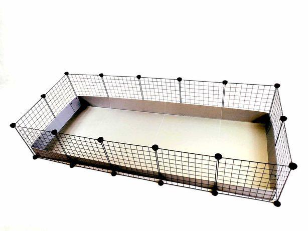 Klatka modułowa marki C&C 180 x 75 cm dla świnki morskiej królika jeża