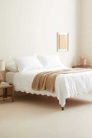 Pościel Zara Home haftowana biała