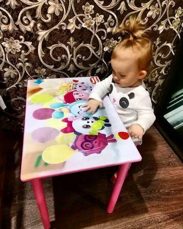 """Детский стол и стул """"МАЛЫШАРИКИ"""" (столик-парта стульчик) от 1 до 7лет"""