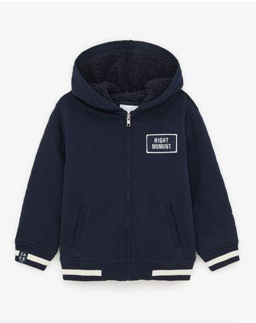 Теплая кофта толстовка куртка zara 10 11 12 лет