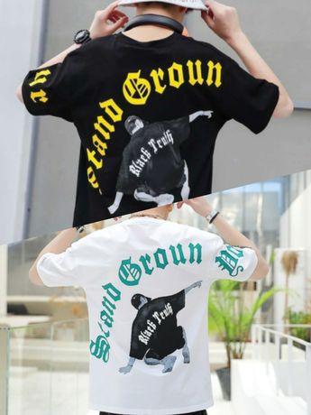Супер стильные подростковые белые и черные футболки в надписях