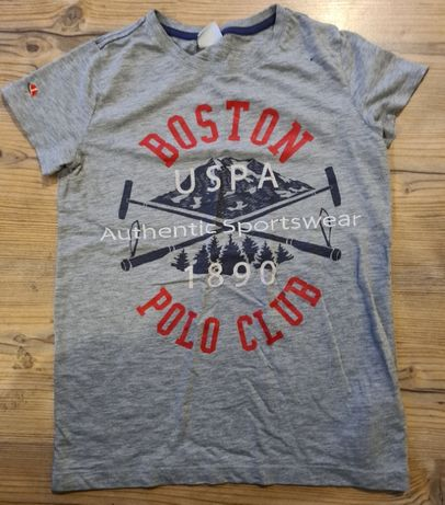 US Polo ASSN tshirt chłopięcy 140-146 szary