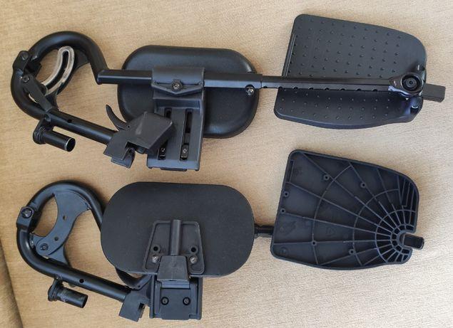 podnóżki z regulowanym kątem z podparciem pod łydkę wozek inwalidzki