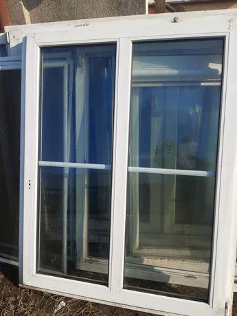 Okno PCV z demontażu białe o wymiarach 1240 na 1580