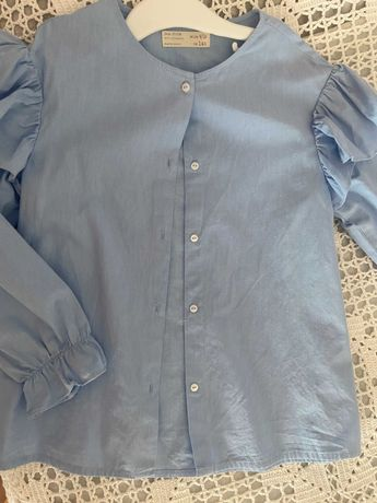 Camisa azul de popelina Zara