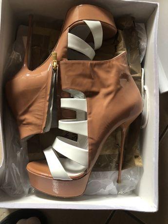 Lulu buty ze skory rozmiar 38 szpilki