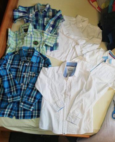 Sprzedam 6 szt eleganckich koszul dla chłopca w rozmiarze 104-116
