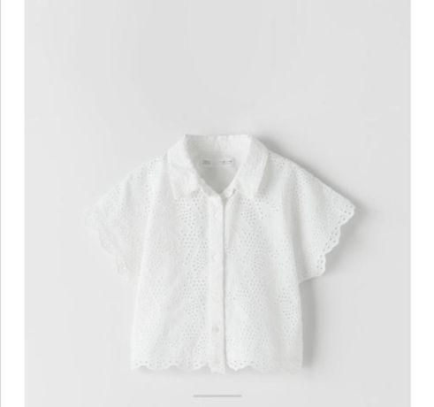 Блуза белая zara на девочку