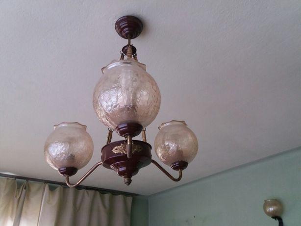 Lampa sufitowa wisząca z lat 70-tych