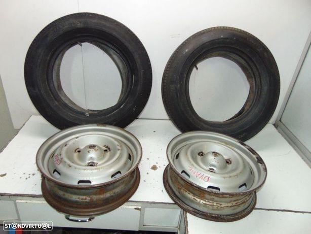 Citroen dyane jantes de ferro 14/2 pneus mabor