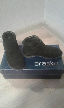 ботинки для хлопчика braska ботинки 31 р. сапожки замша весна деми