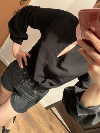 Bluzka czarna z bufkami 36 38