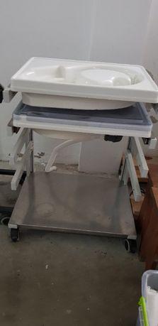 bancada para lavar e desinfetar endoscópios