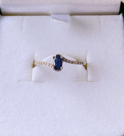 Продам кольцо с сапфиром и бриллиантами