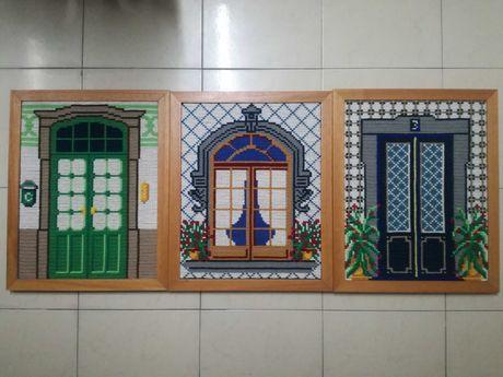Quadros arraiolos portas e janelas feitos à mão