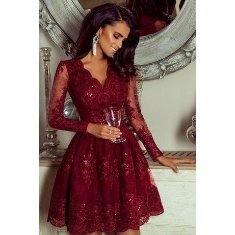 Sukienka Emo, r.38. Piękna, burgundowa