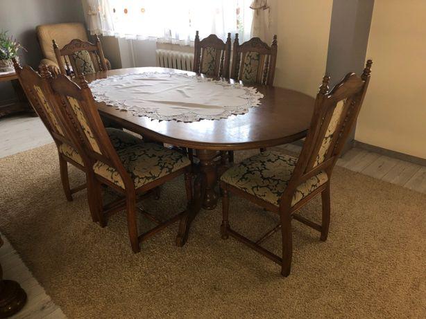 Stół dębowy + 6 krzeseł