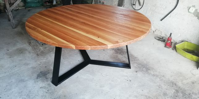 Stół Dębowy metalowe nogi