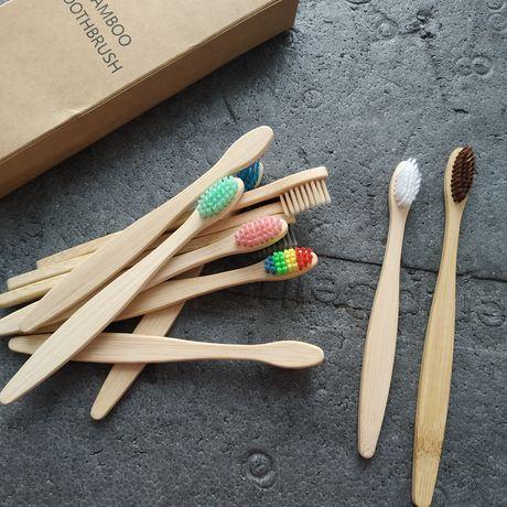 Детская бамбуковая зубная щетка, щетка для детей