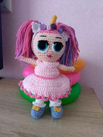 Кукла лол с одеждой, куколка LOL вязаная,ручная работа,подарок девочке