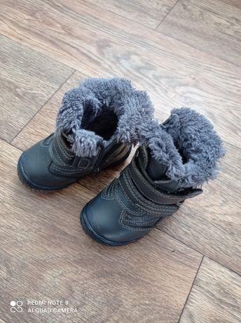 Ботинки детские кожаные 14см