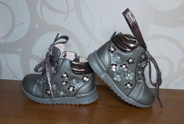 Осенние ботиночки на девочку в идеальном состоянии!!!