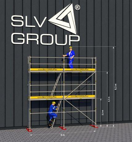 Rusztowanie Plettac SLV 70 (6m x 6,3m) z podestami drewnianymi