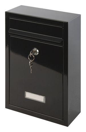 F57 skrzynka pocztowa na listy czarna stalowa