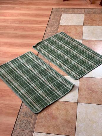 Dywan mały w kratkę - zielony - 2 sztuki - HIT! - 80X50
