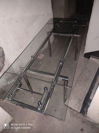 Stół szklany rozkładany