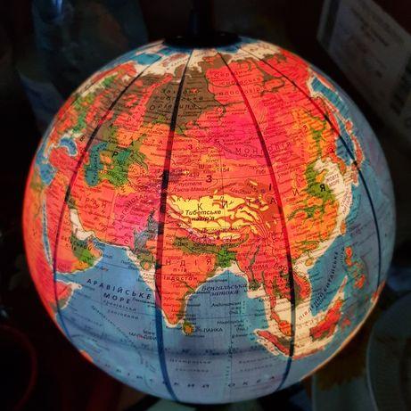 Глобус с подсветкой Нічник 22 см Новий Політичний Фізичний