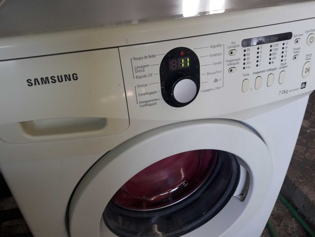 maquina lavar roupa samsung 7k 1200 rot impecavel c garantia