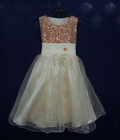 Piękna sukienka wizytowa da dziewczynki wesele 134 140