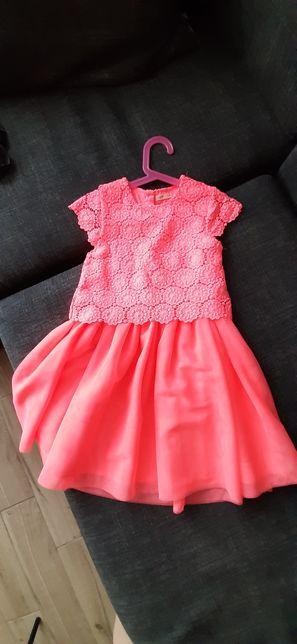 Sukienka i płaszczyk roz 128