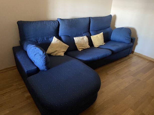 Sofá Chaise Longue Azul + Cadeiras