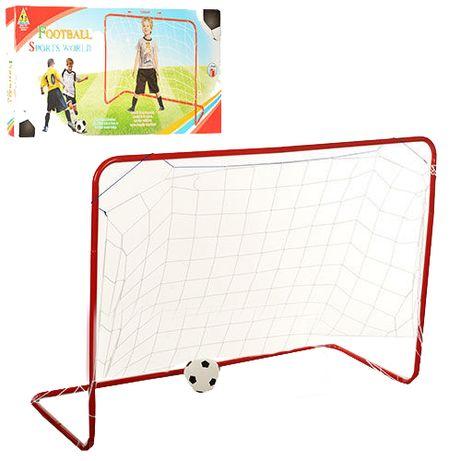 Детские футбольные ворота 120x85x50см  МЕТАЛЛИЧИСКИЕ с мячом и сеткой