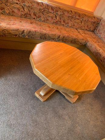 Stół stolik dębowy solidny na taras kawowy