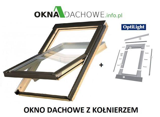 Okno dachowe OptiLight B 78x160 z kołnierzem CENA BRUTTO