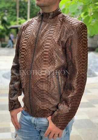 Куртка кожа кожаная питон змея рептилия