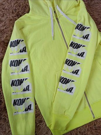 Koka Hoodie Zipper Cut Neon Green