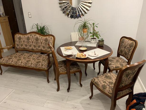 Meble - Stół Krzesła Sofa (styl Ludwik XVI)