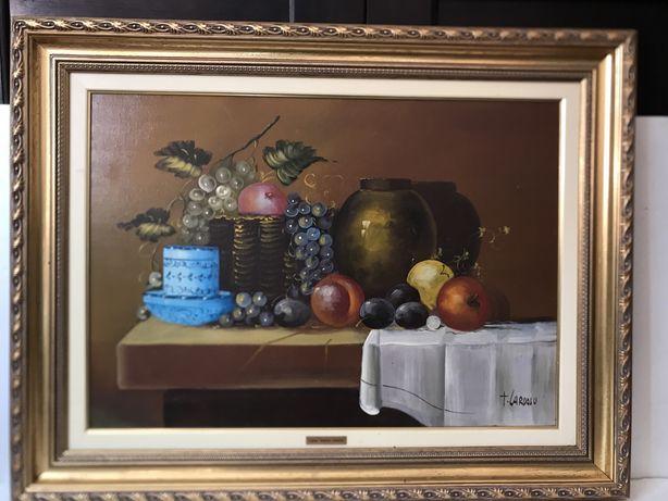 Quadro (pintura a oleo sobre tela) com 0,90 x 0,70