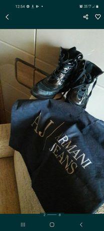 Sneakersy koturny buty Armani