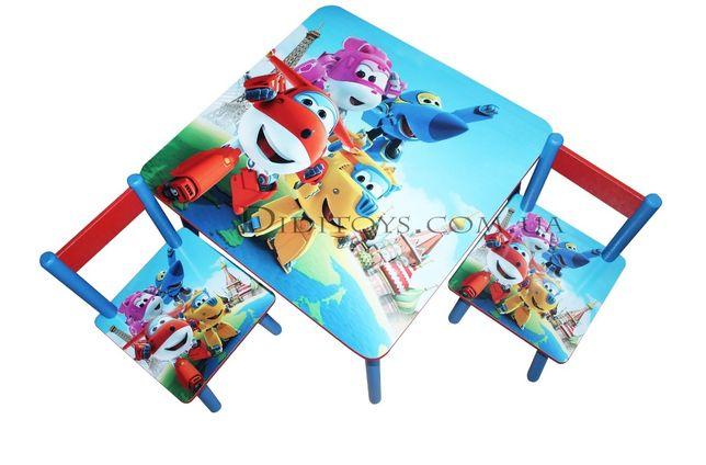 Дитячий стол зі стільцем Супер крила. Вибір малюнків. Від виробника