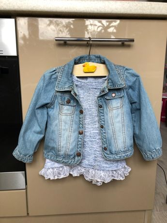 Продам джинсовку ветровку курточку Baby Girl/Zara/Next 1,5-3 года