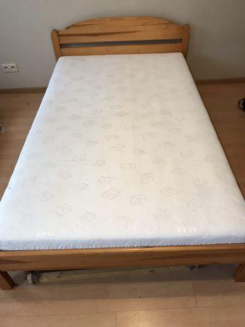 Łóżko z materacem 120x200 cm