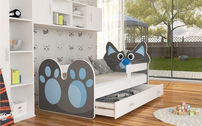 Łóżko parterowe zwierzaki, różne rozmiary-kotek,piesek,sowa,królik,miś