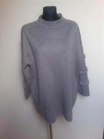 Szary sweter oversize Futerko L george